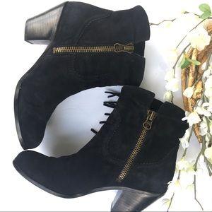 Sam Edelman Louie suede fringe boots. Size 8.5.